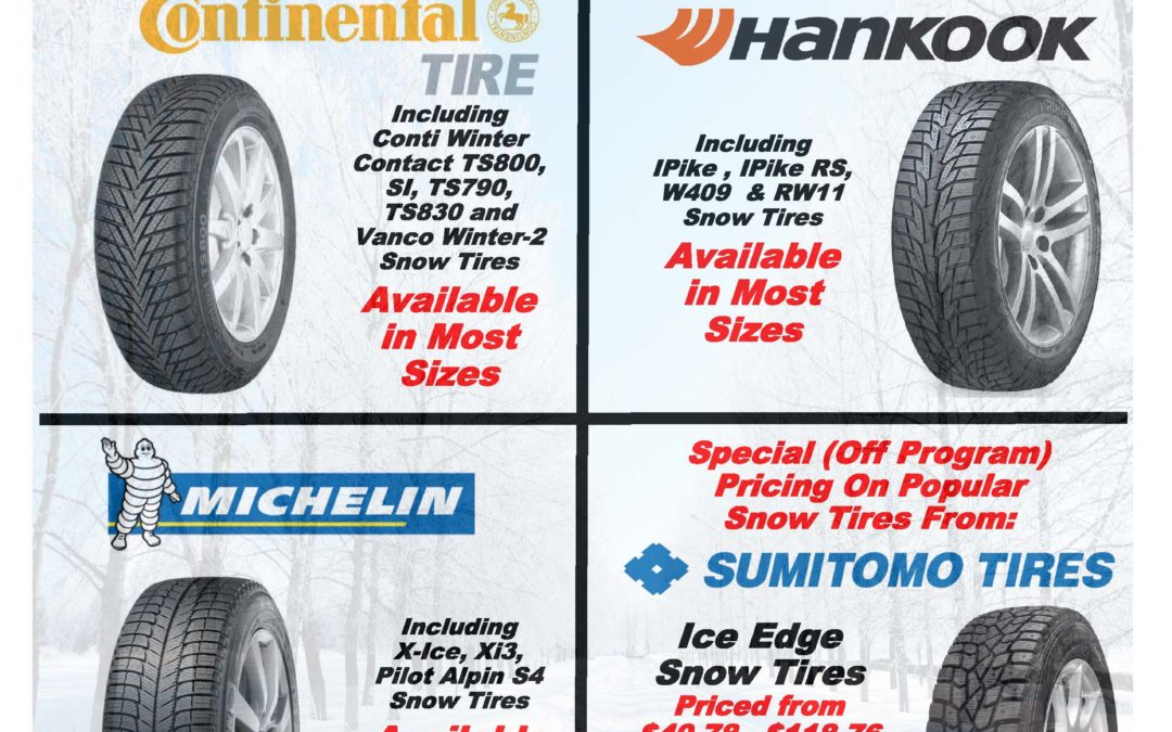 Snow Tire Specials from Carroll Tire